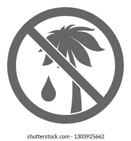 PALM OIL FREE symbol. Vector.