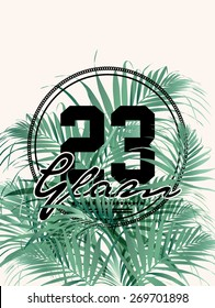 Palm print in vector