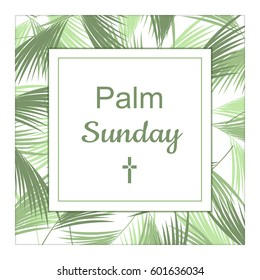 Palm Sunday banner as religious holidays background in vector format