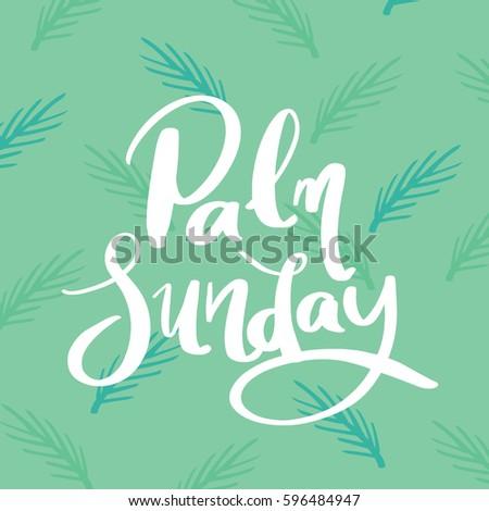 Palm sunday greetings palm leaf background stock vector royalty palm sunday greetings with palm leaf background vector art design m4hsunfo