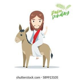palm sunday - Jesus is riding a donkey