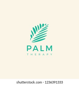 Palm Therapy logo design inspiration
