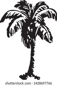Palm Tree 2 - Retro Ad Art Banner for Vegetation