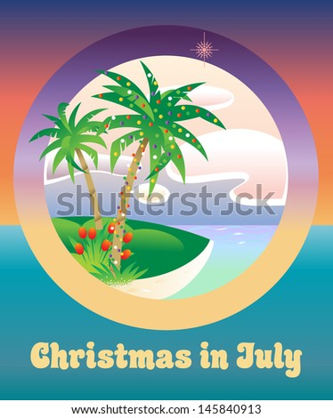palm tree decorated with christmas lights christmas in july - Palm Tree Decorated For Christmas