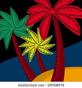 Palm tree graphic