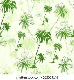 palm tree green pattern over vector illustration