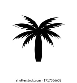Palm tree icon isolated on white background. Vector illustration.