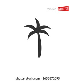 Palm Tree Icon Logo Design Vector