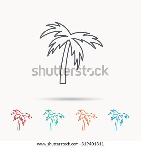 Palm Tree Icon Travel Vacation Symbol Stock Vector Royalty Free