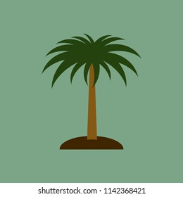 Palm tree and island vector illustration