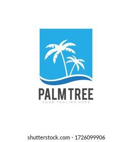 Palm Tree Logo Icon Design Illustration