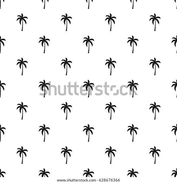 Palm Tree Pattern Seamless Simple Style Stock Vector