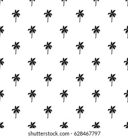 Palm tree pattern seamless texture. Simple illustration of palm tree vector pattern seamless for any web design or textile