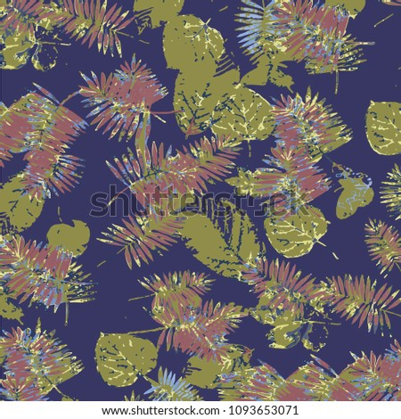 Palm Tree Pattern Textile Tropical Forest Stock Vector