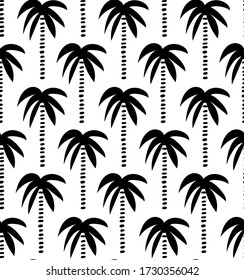palm tree pattern. palm trees vector seamless pattern
