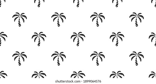 palm tree seamless pattern coconut tree vector island tropical summer ocean beach scarf isolated tile background repeat wallpaper cartoon white illustration design