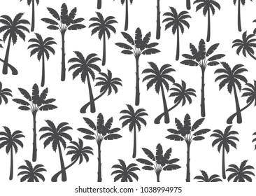 Palm tree seamless pattern. Vector llustration