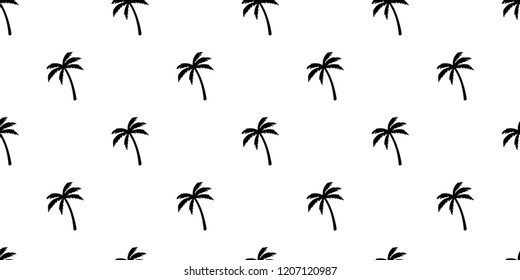 palm tree seamless pattern vector coconut tree island beach summer tropical scarf isolated tile background repeat wallpaper illustration