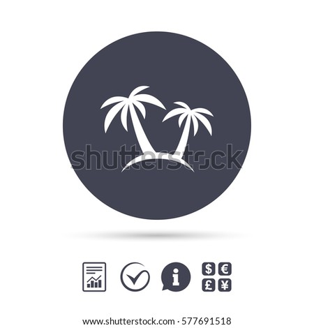 Palm Tree Sign Icon Travel Trip Stock Vector Royalty Free