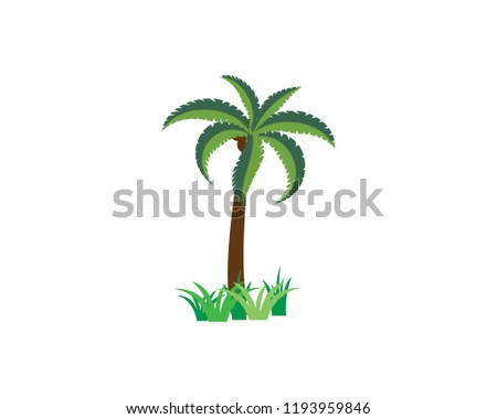 palm tree summer logo template vector stock vector royalty free