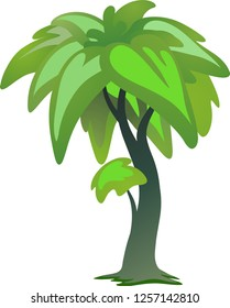 palm tree vector - Beautiful tree on a white background, trees illustrations. Can be used to illustrate any nature or healthy lifestyle topic, illustration with high pines in fir trees forest
