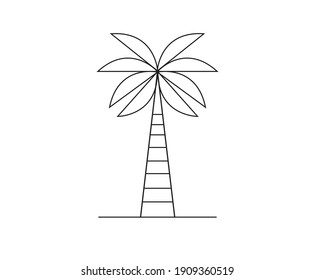 Palm tree vector icon. Flat style design isolated on white background