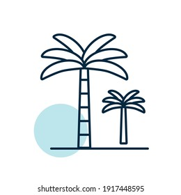Palm tree vector icon. Nature sign. Graph symbol for travel and tourism web site and apps design, logo, app, UI