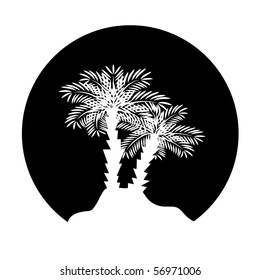 Palm tree. Vector illustration