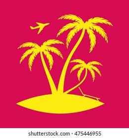 Palm trees island Icon