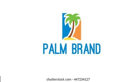 Palm vector logo template