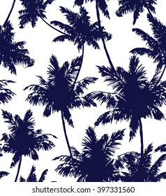 Palms seamless pattern.Vector.