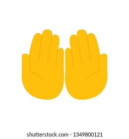 Palms up together emoji vector flat design