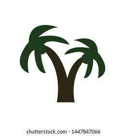 palmtree icon. Logo element illustration. palmtree design. colored collection. palmtree concept. Can be used in web and mobile