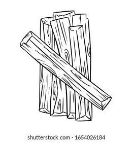 Palo Santo holy wood tree aroma wooden sticks from Latin America. Smudge burning incense bundle image