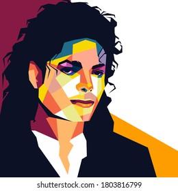 Palu, Indonesia -August 27 2020 :Michael Jackson  in wpap