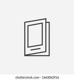 Pamphlet Vector Icon, Flat Catalogue Vector Symbol.