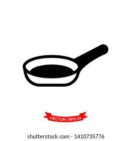 pan icon in trendy flat design, kitchen utensil icon, frying pan icon