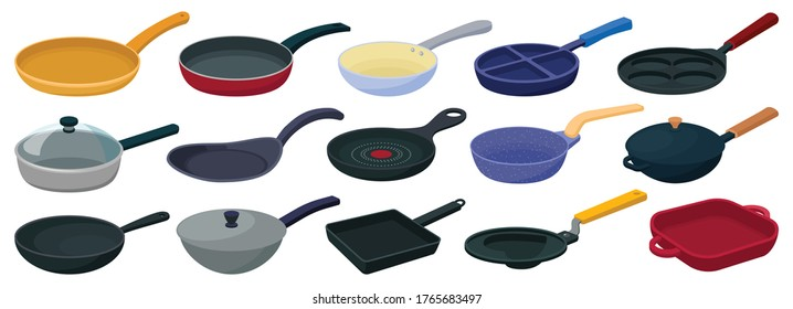 Pan vector cartoon set icon. Vector illustration griddle on white background. Isolated cartoon set icon pan.