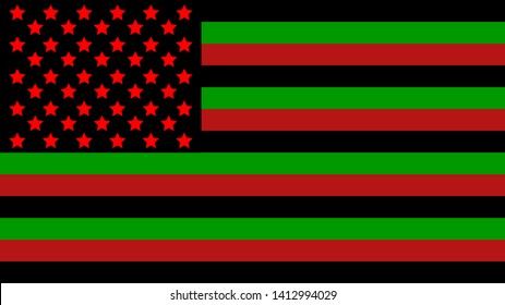 Pan-african flag. African America flag. Juneteenth, Freedom Day. African-American Independence Day, June 19
