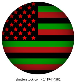 Pan-african flag sign. Juneteenth, Freedom Day. African-American Independence Day, June 19