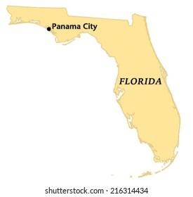Map Of Panama City Florida.Key West Florida Locate Map Stock Vector Royalty Free 216313435