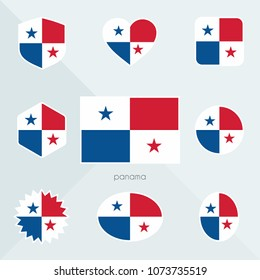Panama flag. National flag of Panama. Panama vector flag button. Panama independence day.