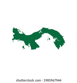 Panama Map. Panama Map vector illustration. Panama map silhouette