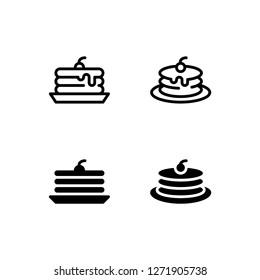 Pancake Icon Logo Vector Symbol. Flapjack Icon