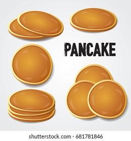 pancake set vector illustration