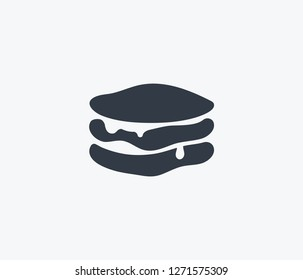 Pancakes icon isolated on clean background. Pancakes icon concept drawing icon in modern style. Vector illustration for your web mobile logo app UI design.
