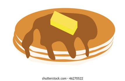 Pancakes illustration.