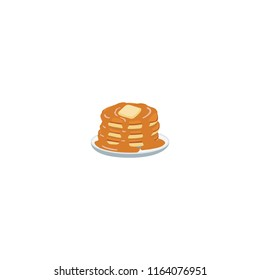 Pancakes vector flat icon