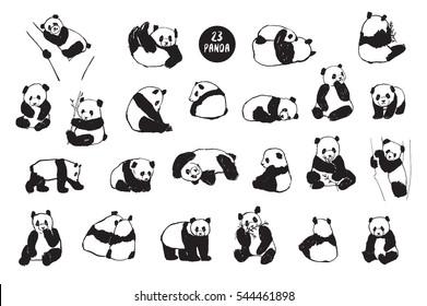 panda animal set