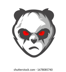 Panda athletic club vector logo concept isolated on white background. Modern sport team mascot badge design. E-sports team logo template with animal vector illustration